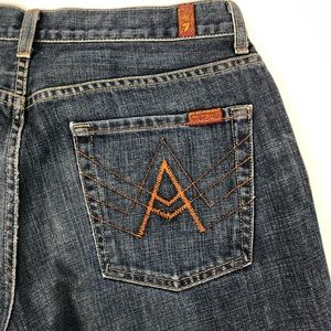7 For All Mankind A Pocket Straight Blue Jeans